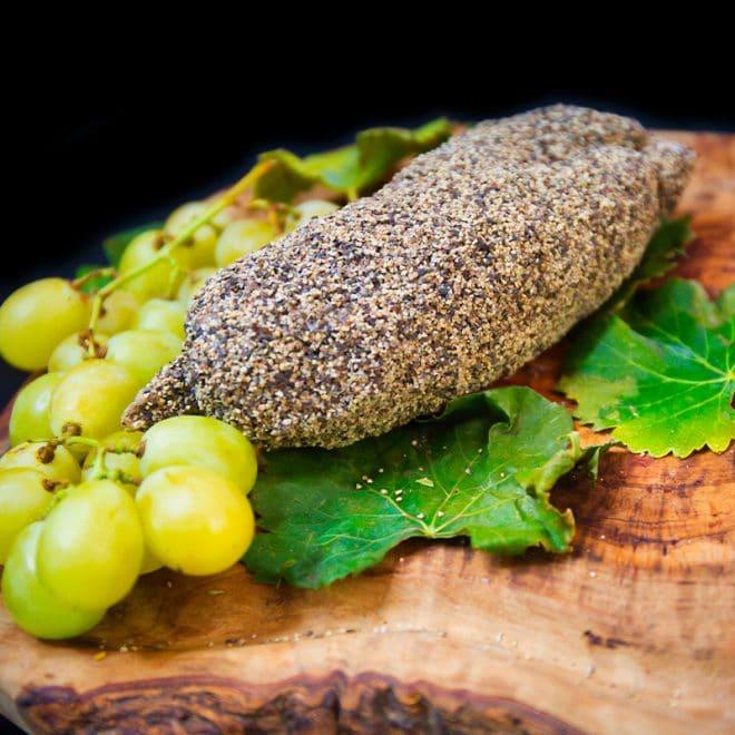 Saucisson sec enrobé au poivre