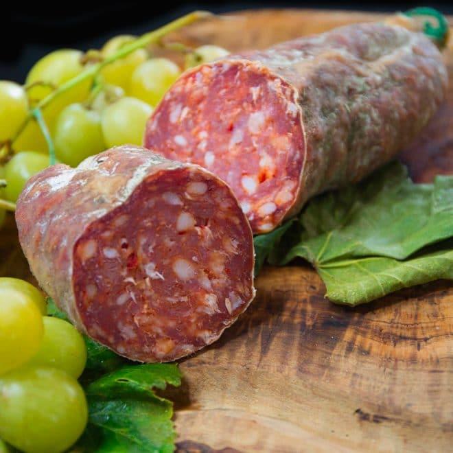 Saucisson pur porc au piment d'Espelette